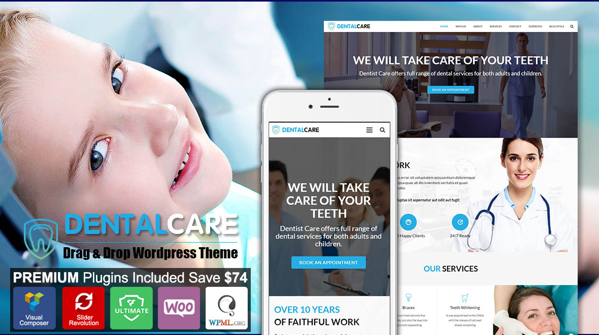 Dentist & Dental WordPress Theme