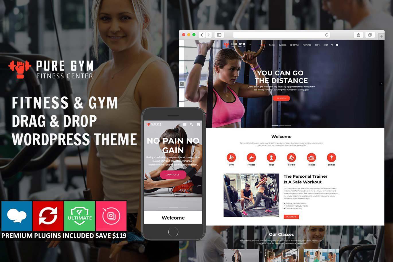 PureGym – Gym & Fitness Drag & Drop WordPress Theme