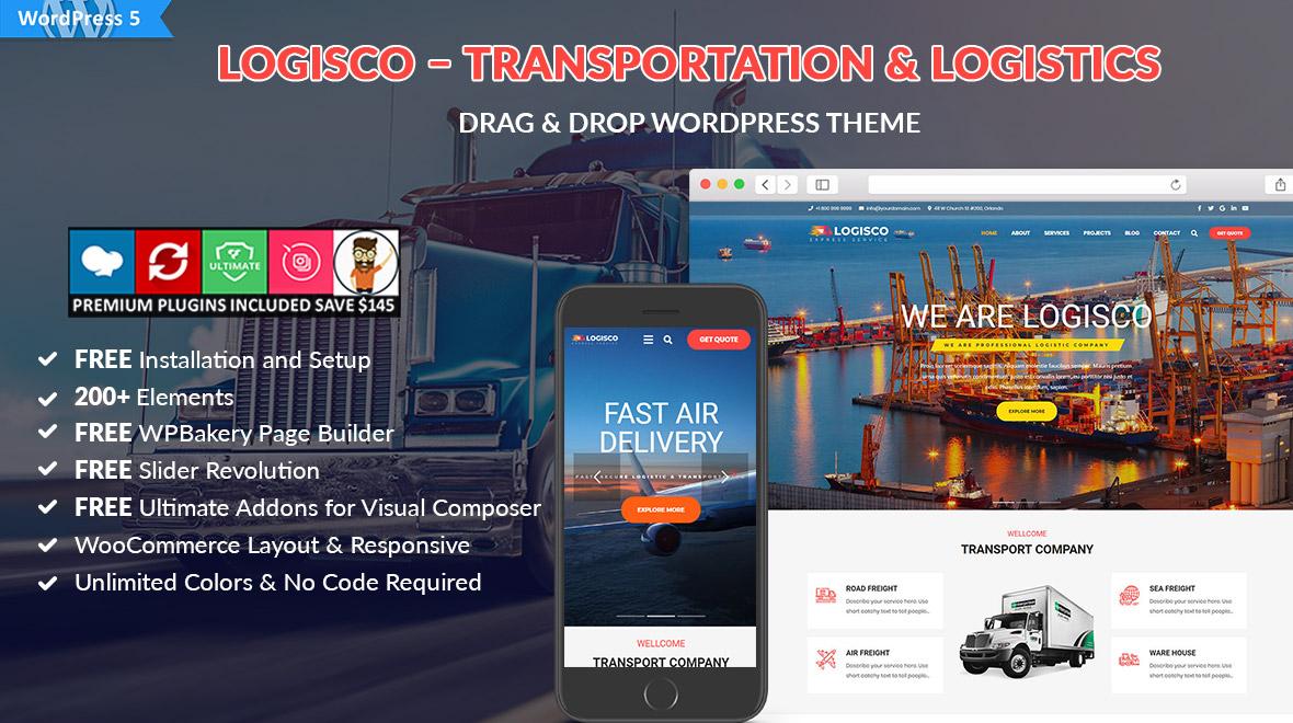 Logisco – Transportation & Logistics WordPress Theme - Cherry Theme